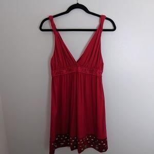 Hale Bob Dresses - Hale Bob red dress with gold metal adornments